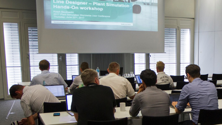 Workshop auf der Plant Simulation Conference 2017